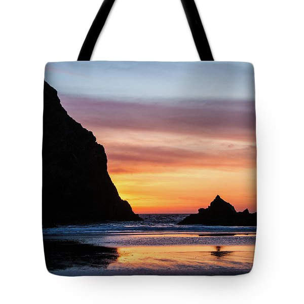 Sunset At Whalehead Beach Tote Bag