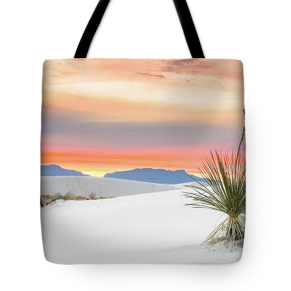 Sunset At White Sands National Monument Tote Bag