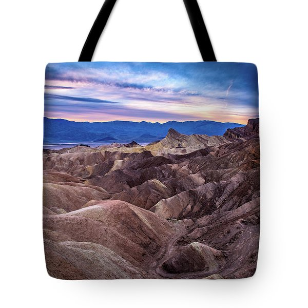 Sunset At Zabriskie Point In Death Valley National Park Tote Bag