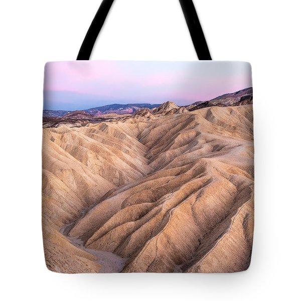 Sunset At Zabriskie Tote Bag