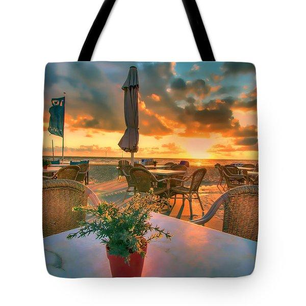 Sunset At Zandvoort Tote Bag