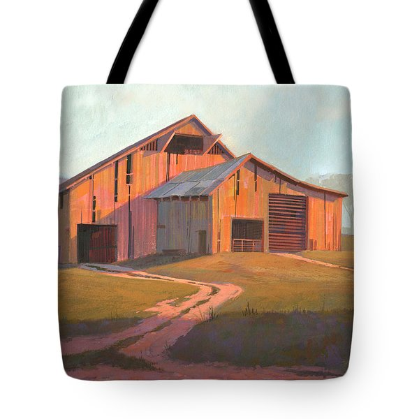 Sunset Barn Tote Bag by Michael Humphries