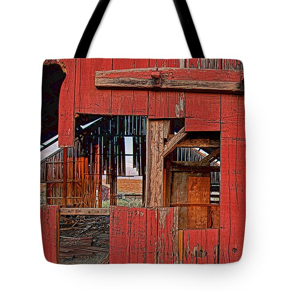 Tote Bag featuring the photograph Sunset Barn by Steve Siri