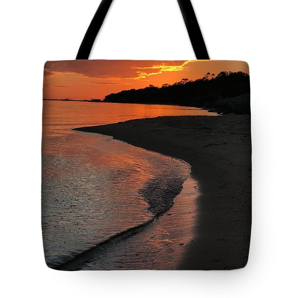 Tote Bag featuring the photograph Sunset Bay by Lori Mellen-Pagliaro