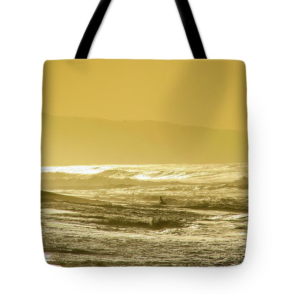 Sunset Beach Aglow  Tote Bag