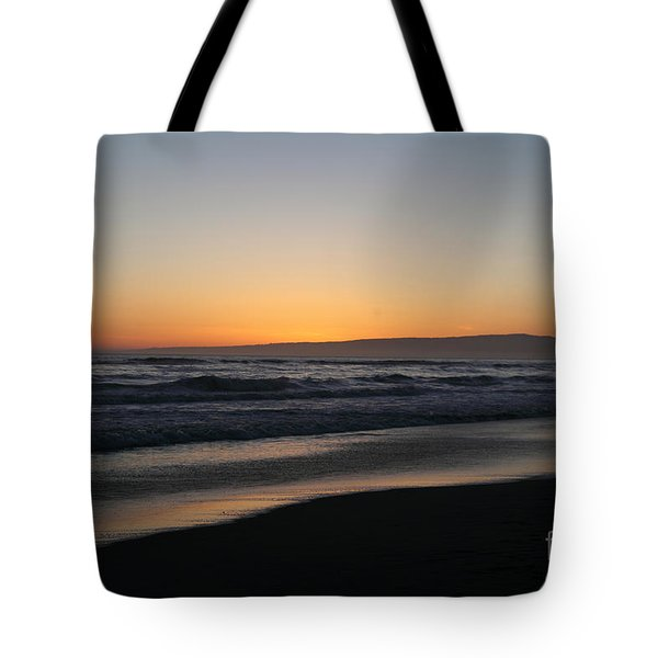 Sunset Beach California Tote Bag by Amanda Barcon