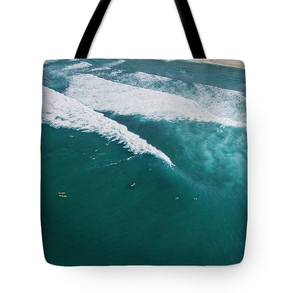 Sunset Beach Lining Up Tote Bag