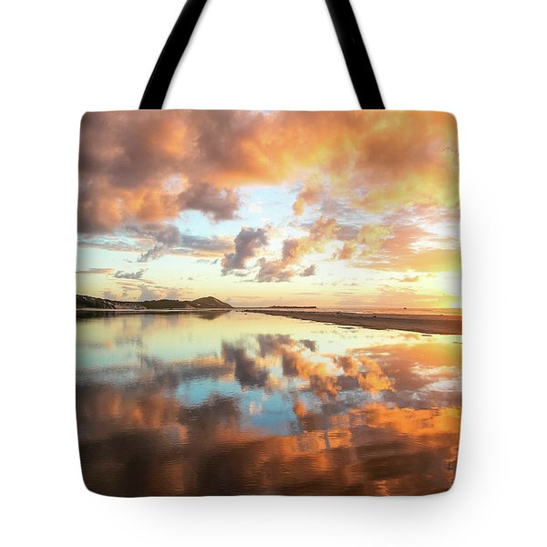 Sunset Beach Reflections Tote Bag