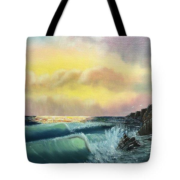 Sunset Beach Tote Bag by Thomas Janos