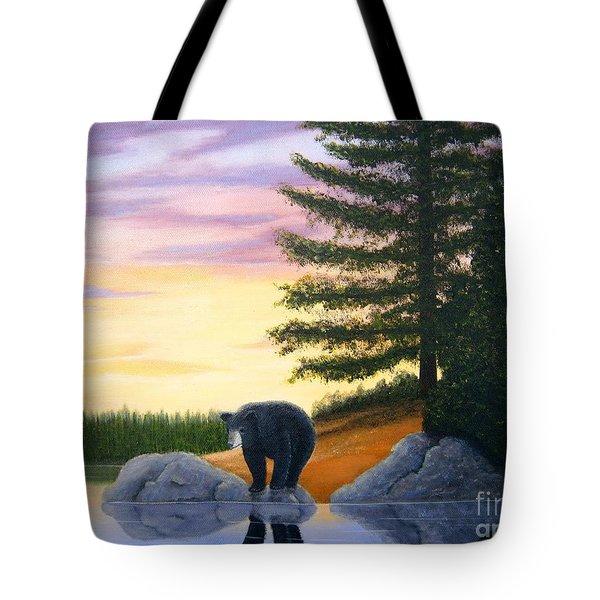 Sunset Bear Tote Bag