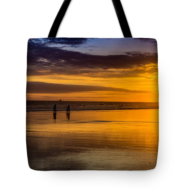 Sunset Bike Ride Tote Bag