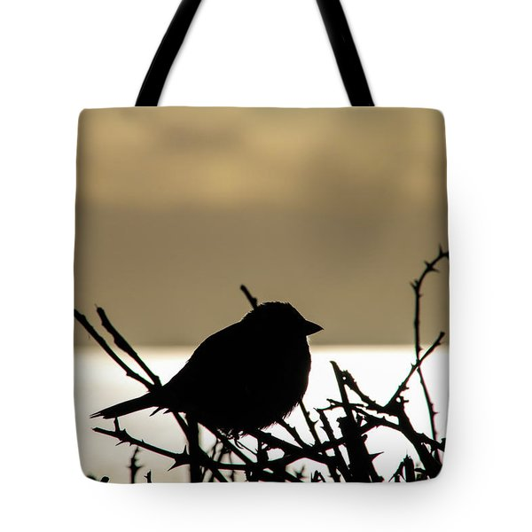 Sunset Bird Silhouette Tote Bag