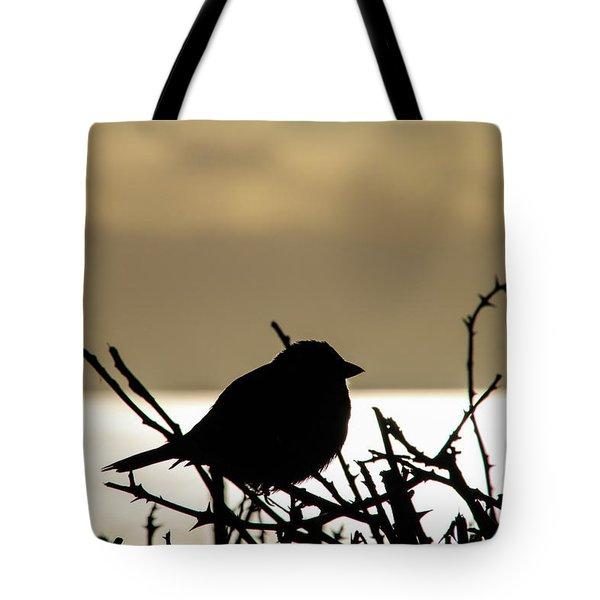 Sunset Bird Silhouette Tote Bag