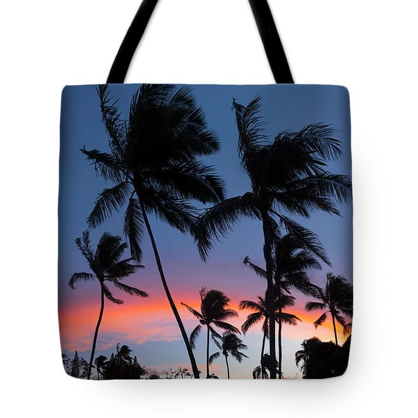 Sunset - Bow Tote Bag