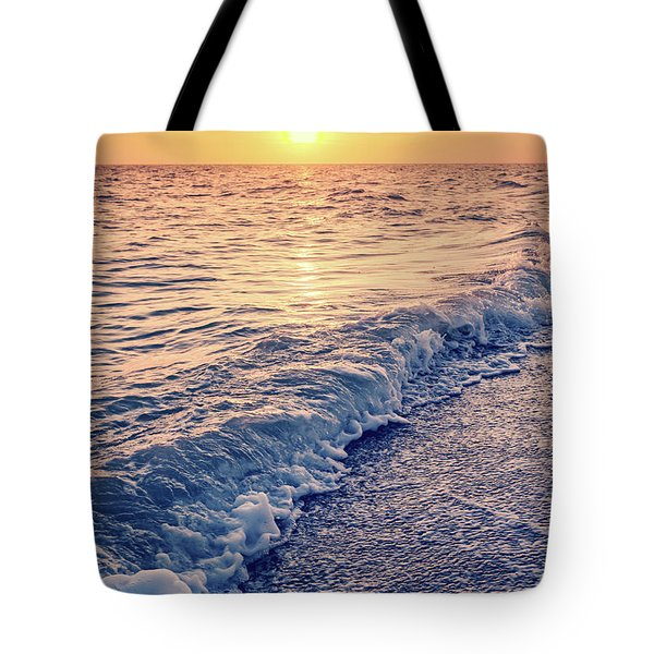 Tote Bag featuring the photograph Sunset Bowman Beach Sanibel Island Florida Vintage by Edward Fielding