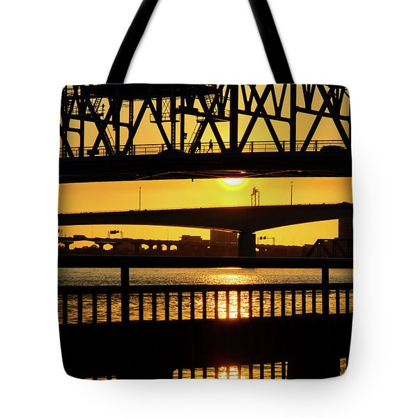 Sunset Bridge 2 Tote Bag
