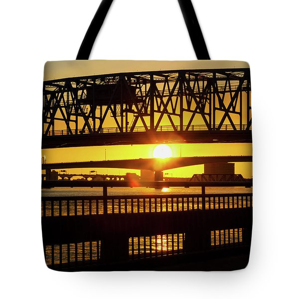 Sunset Bridge 3 Tote Bag