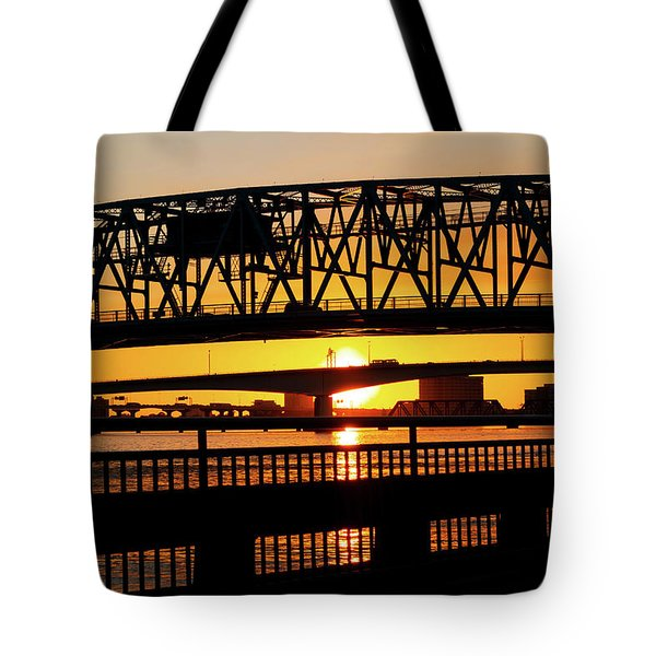Sunset Bridge 4 Tote Bag
