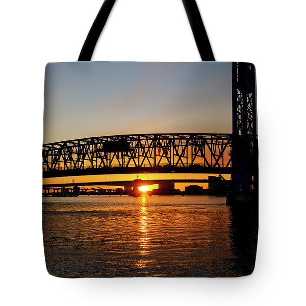 Sunset Bridge 5 Tote Bag