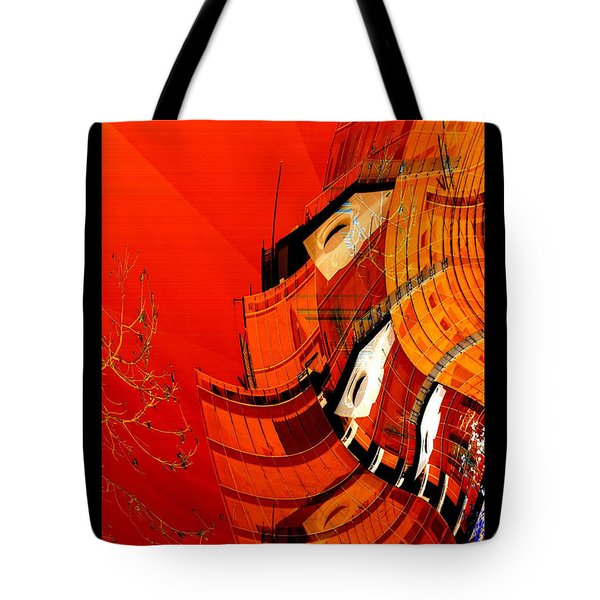 Sunset Building Tote Bag