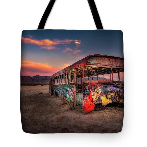 Sunset Bus Tour Tote Bag