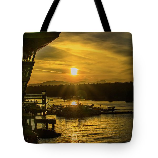 Sunset By The Convention Centre Tote Bag