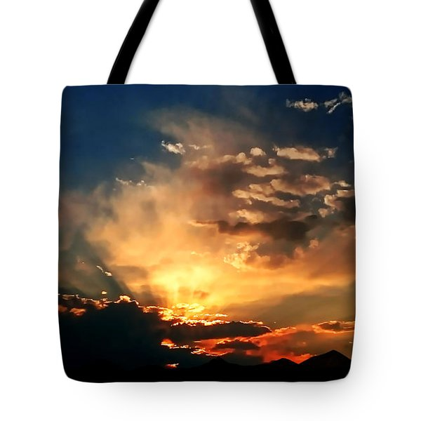 Sunset Of The End Of June Tote Bag by Zedi