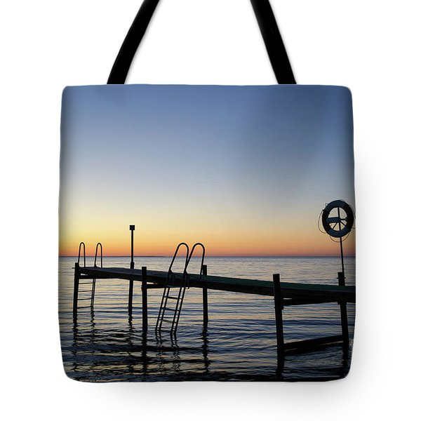 Sunset By The Old Bath Pier Tote Bag