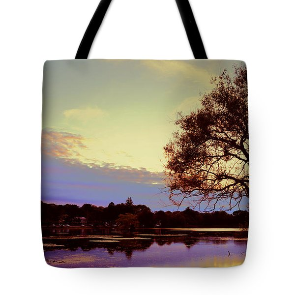 Sunset By The Pond Tote Bag