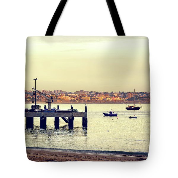 Tote Bag featuring the photograph Sunset By The Sea by Marion McCristall