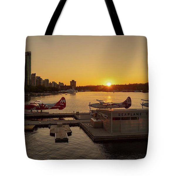 Sunset By The Seaplanes Tote Bag