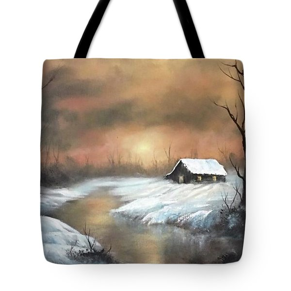Sunset Cabin  Tote Bag