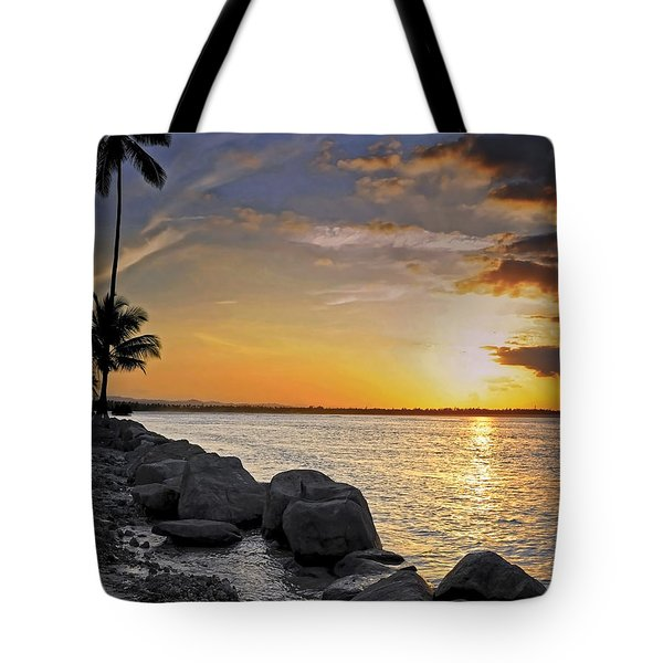 Sunset Caribe Tote Bag by Stephen Anderson