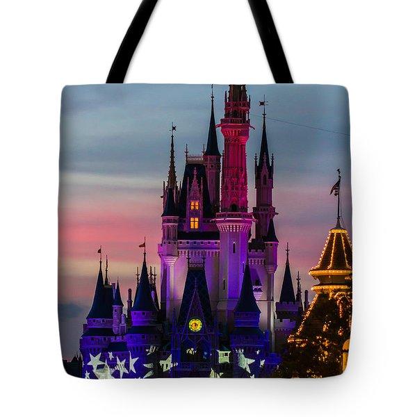 Sunset Castle Tote Bag