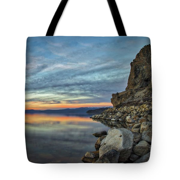 Sunset Cave Rock 2015 Tote Bag