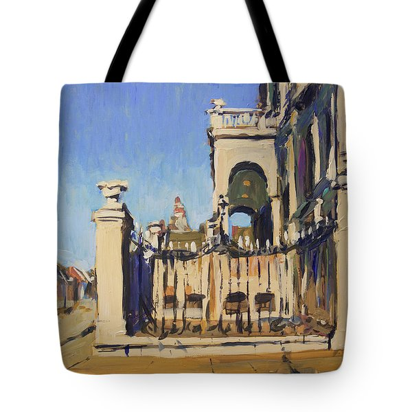 Sunset Cityhall Maastricht Entrance Tote Bag
