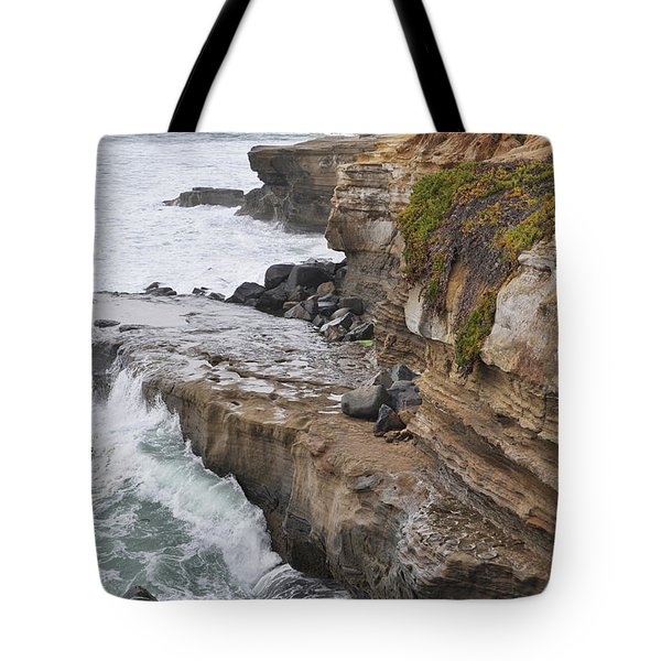 Tote Bag featuring the photograph Sunset Cliffs San Diego Portrait by Kyle Hanson