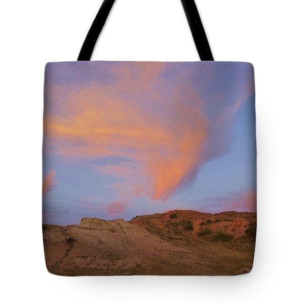 Sunset Clouds, Badlands Tote Bag