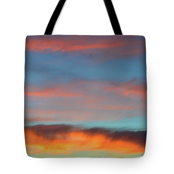 Sunset Clouds In Blue Sky  Tote Bag