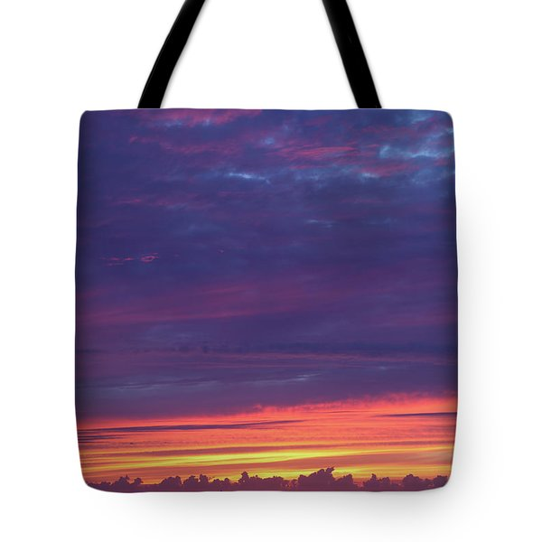 Sunset Clouds In Newquay, Uk Tote Bag by Nicholas Burningham