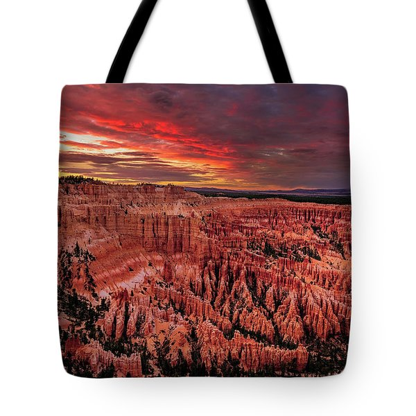 Tote Bag featuring the photograph Sunset Clouds Over Bryce Canyon by John Hight