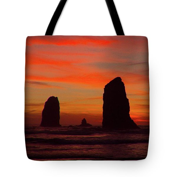 Sunset Coast Tote Bag