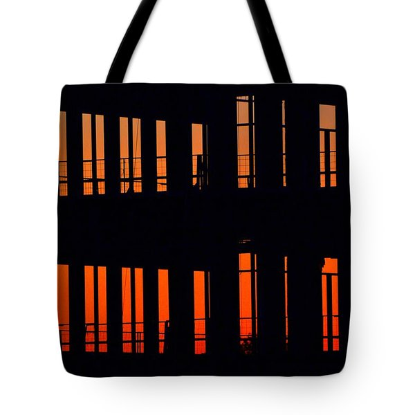 Sunset Color In The Spaces 2  Tote Bag by Lyle Crump
