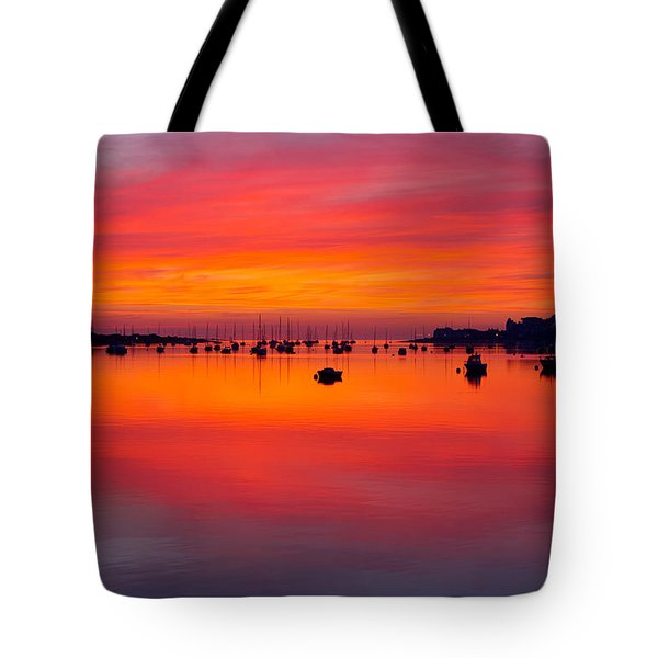 Sunset, Conwy Estuary Tote Bag