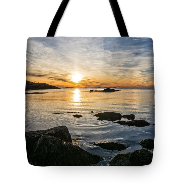 Tote Bag featuring the photograph Sunset Cove Gloucester by Michael Hubley