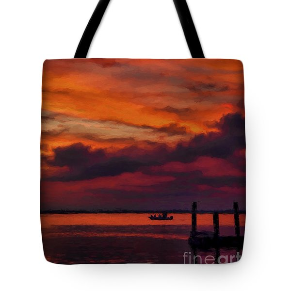 Sunset Cruise  Tote Bag