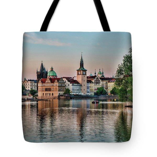 Sunset Cruise Prague Tote Bag