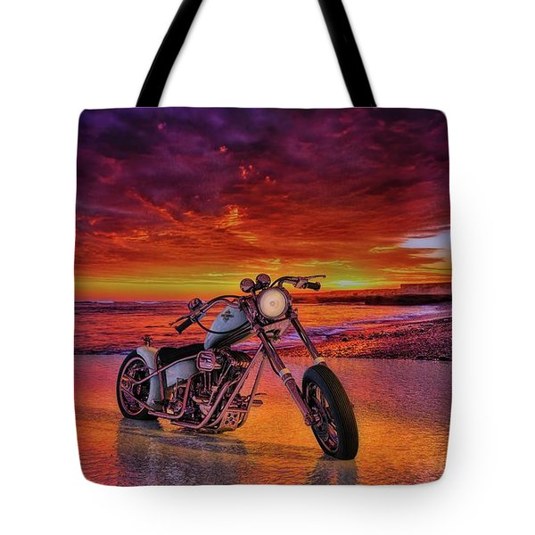 sunset Custom Chopper Tote Bag