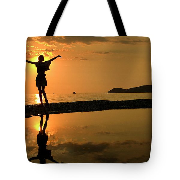 Sunset Dance Tote Bag