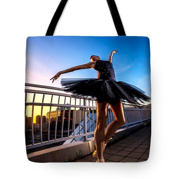 Sunset Dancer Tote Bag